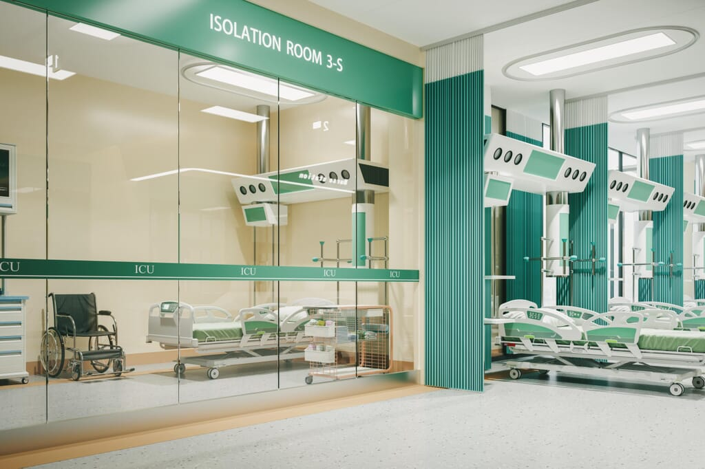 isolation rooms with air pressure stabilisers